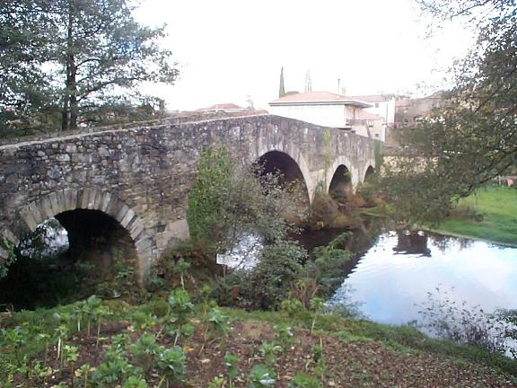 "The bridge over the river at ""Melide"""